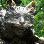Cheshire Cat Detail from Statue