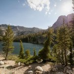 At the end of the trail is Crystal Lake, one of the Mammoth Lakes in California