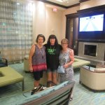 Me with 2 of my friends in Lobby at Hotel. The very friendly receptionist took our picture for u