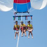 Parasailing in the Grand Caymans.