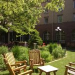Lawn seating in courtyard