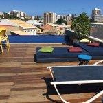 Piscina no terraço com vista agradável