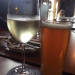 Driftwood ESB draught and Pino Grigio, Hank's Untraditional BBQ, Ucluelet, BC