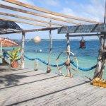 Deck of Pangaimotu Island Resort