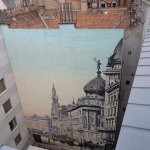 Awesome mural, viewed from the roof top pool