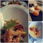 Amuse-bouches et dessert - Ravioles aux homards et ses légumes