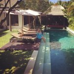 Relaxing by the gorgeous pool - Oh I want to go back! Chandra Luxury Villas are absolute perfect