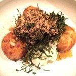 polenta, cauliflower, kale, pine nuts
