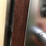 pin that would not retract when door handle depressed