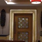 Nice lighting in the restaurant