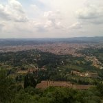 View from Reggia degli Etruschi, looking out over Florence