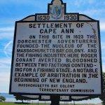 Settlement of Cape Ann historical plaque