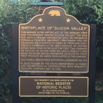 """Birthplace of """"Silcon Valley"""" plaque"""