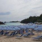 Lounge chairs at Horseshoe Beach