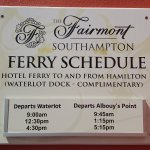 Ferry service from Southampton - complimentary for guests