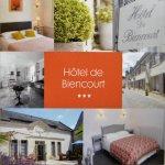 Carte commerciale de l'Hôtel Biencourt