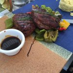 The beef filet at Ammos!