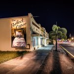 Looking West down Marion Aveue next to The Perfect Caper Restaurant — in Punta Gorda, Florida.