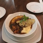 Delicious food and great service! We had the wild mushroom ragout, braised short ribs, ravioli s