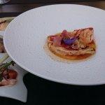 L'entrée du menu Surprise, à base de homard