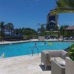 Swimming pool with nice bar
