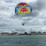 Had a great time parasailing her first time!!