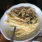 Linguini with garlic