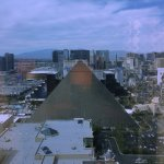 West wing, facing north from 36th floor. Color is off due to reflection in glass, but a great vi
