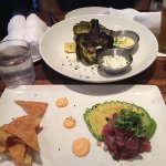 Grilled artichoke and tuna tartare