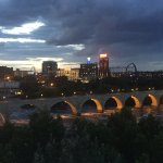 Stone Arch Bridge view from the Guthrie Theater during intermission from South Pacific.
