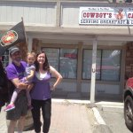 Satisfied customers outside Cowboys Cafe!