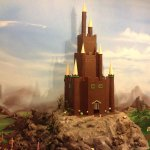 Handmade chocolate castle