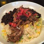 rum glazed cuban pork (with coconut-mango rice)....i wanted to ask for seconds!
