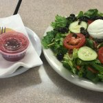 BLT salad with raspberry dressing