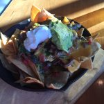 Awesome food: fried olives, braised beef nachos, Thursday flight