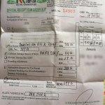 Official receipt from KK Leisure