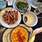 Amazing Carrots, greens and Mac-n-cheese