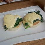 the eggs florentine with hollandaise sauce