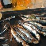 sardines grilées déjà bien attaquées