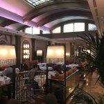 Hotel lobby is stunning. Art Deco