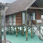 Each room has it's own balcony and stairs leading into the water