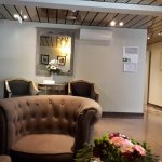 Waiting room behind reception