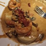 My 1/2 eaten Ossobuco ravioli, (I couldn't wait!) Hand made with unbelievable flavor! Best ravio