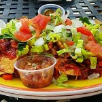 Loaded Nachos will fill you up and leave you sastisfied!