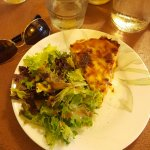 Hard to believe but the quiche may even be better than the crepes. Delicious.