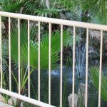 A small fountain in the Double Tree Hotel stream