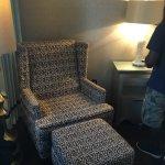 Plush leopard print chair