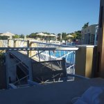 From the poolside and view from balcony