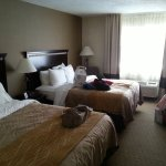 Unser Zimmer 206 mit Pool-Blick