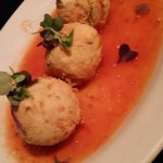 Fried goat cheese with Lavender and tomato jam
